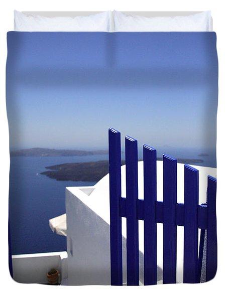Blue Gate Duvet Cover by Deborah Benbrook
