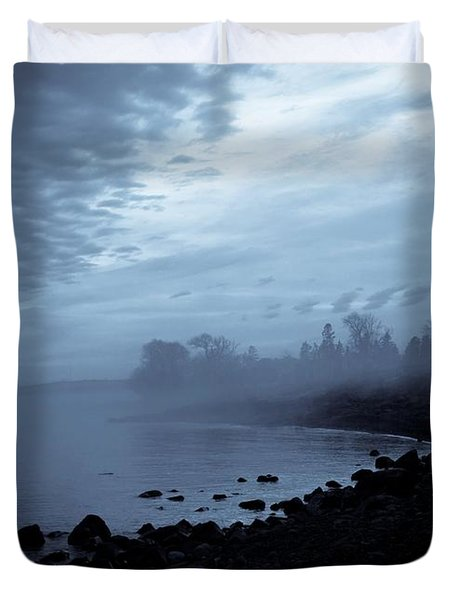 Blue Hour Mist Duvet Cover by Mary Amerman