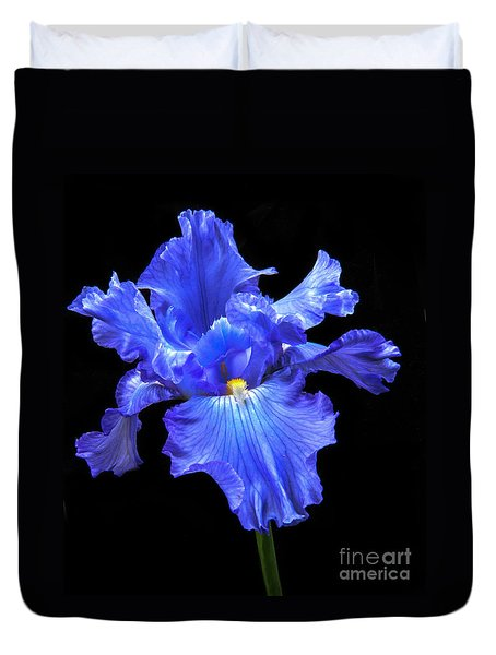 Blue Iris Duvet Cover by Robert Bales