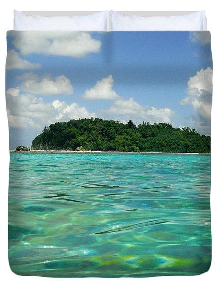 Blue Lagoon Duvet Cover by Carey Chen