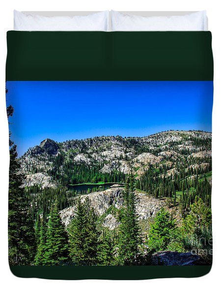 Blue Lake Duvet Cover by Robert Bales