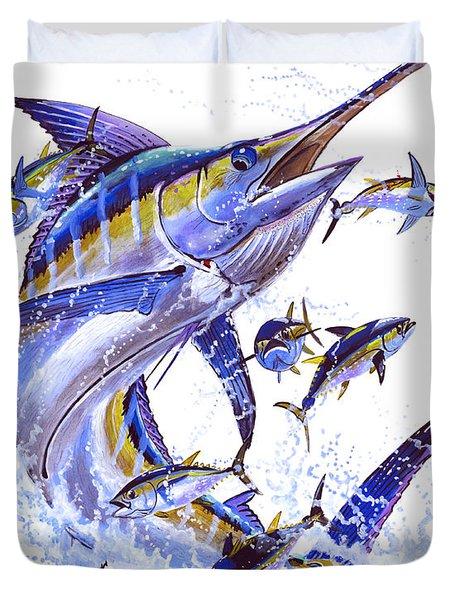 Blue Marlin Duvet Cover by Carey Chen