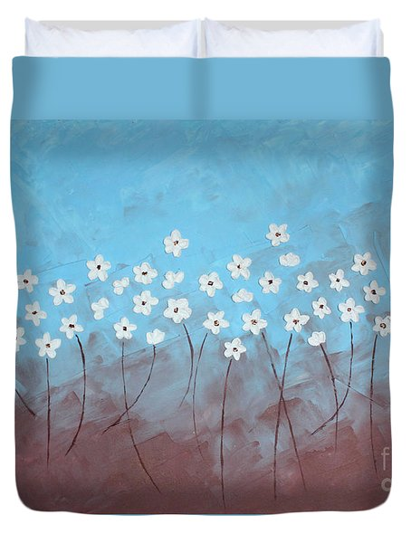 Blue Meadow Duvet Cover by Home Art