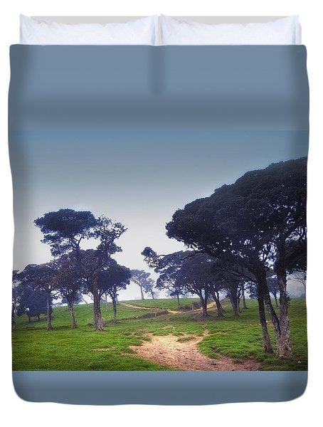 Blue Mist Silence. Sri Lanka Duvet Cover by Jenny Rainbow