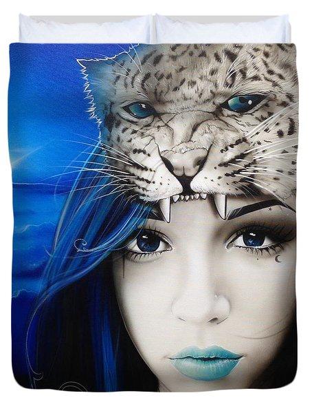 'Blue Moon' Duvet Cover by Christian Chapman Art