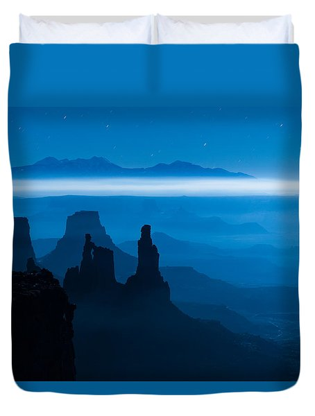 Blue Moon Mesa Duvet Cover by Dustin  LeFevre
