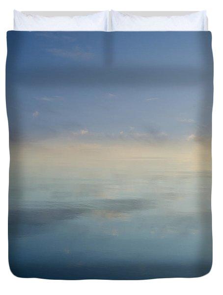 Blue Morning At Glendale Duvet Cover by David Gordon