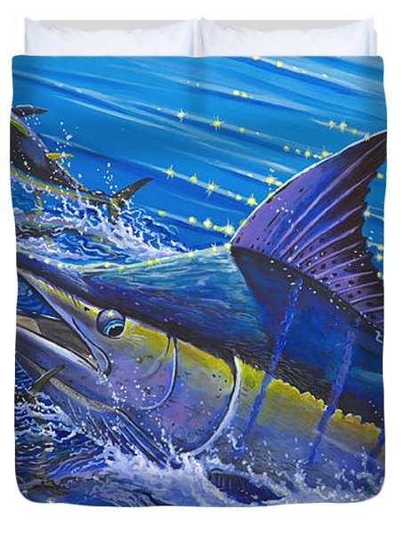 Blue Persuader  Duvet Cover by Carey Chen