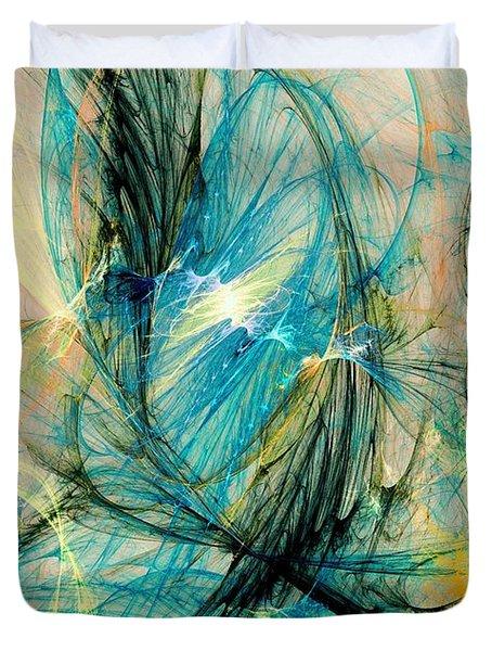 Blue Phoenix Duvet Cover by Anastasiya Malakhova