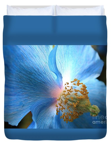 Blue Poppy Duvet Cover by Carol Groenen
