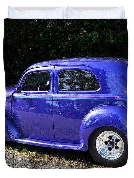 Blue Restored Willy Car Duvet Cover by Luther   Fine Art