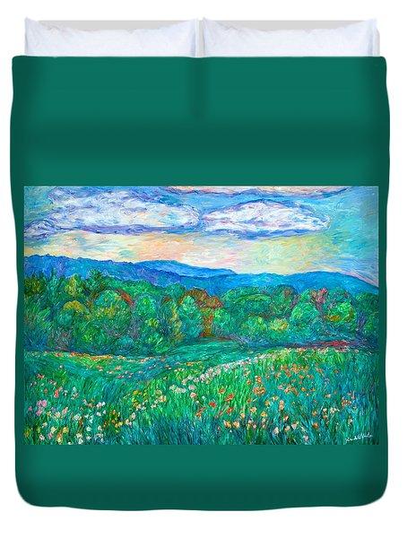 Blue Ridge Meadow Duvet Cover by Kendall Kessler