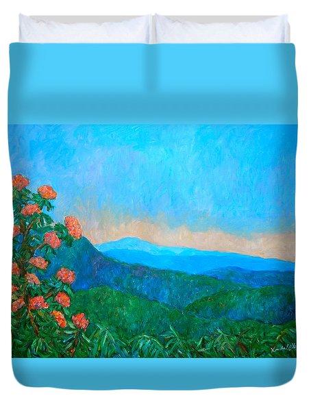 Blue Ridge Morning Duvet Cover by Kendall Kessler