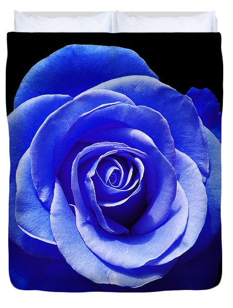 Blue Rose Duvet Cover by Aimee L Maher Photography and Art