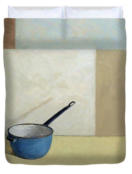 Blue Saucepan Duvet Cover by William Packer
