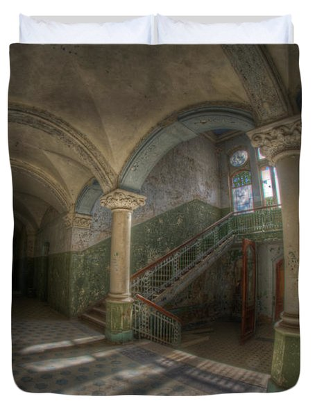 Blue Staircase Of Beauty Duvet Cover by Nathan Wright