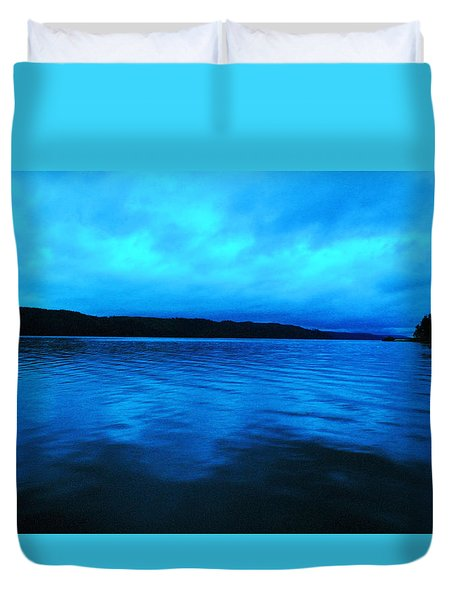 Blue Water In The Morn  Duvet Cover by Jeff Swan