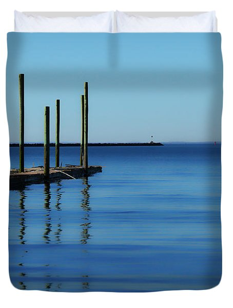 Blue Water Duvet Cover by Karol Livote