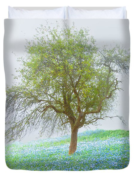Bluebells Duvet Cover by Debra and Dave Vanderlaan
