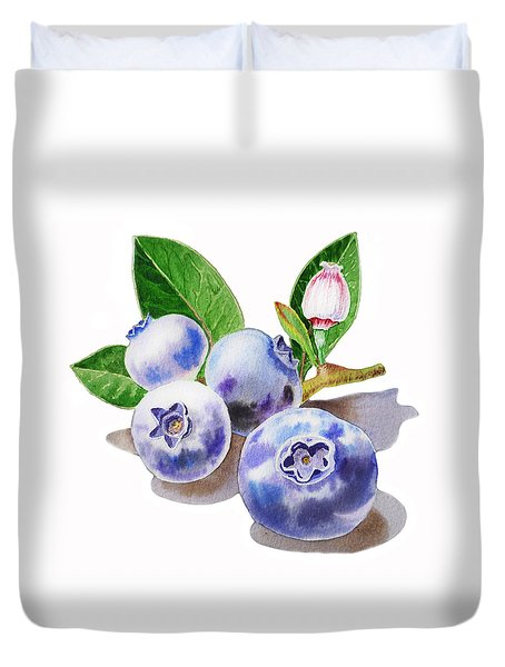 Artz Vitamins The Blueberries Duvet Cover by Irina Sztukowski