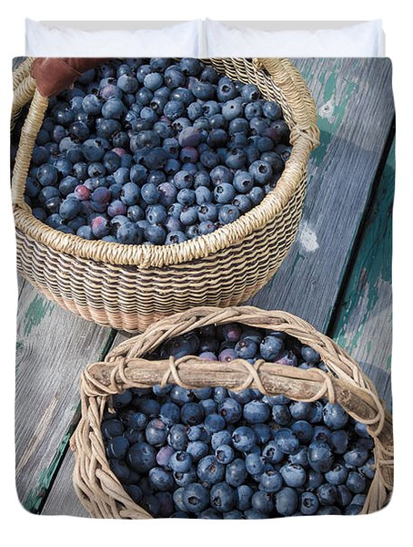Blueberry Baskets Duvet Cover by Edward Fielding