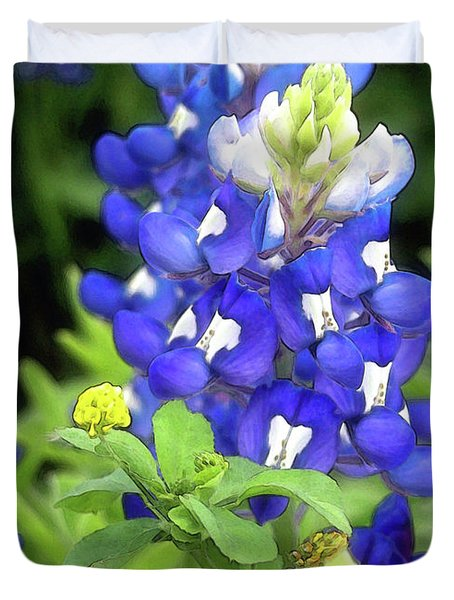 Bluebonnets Blooming Duvet Cover by Stephen Anderson