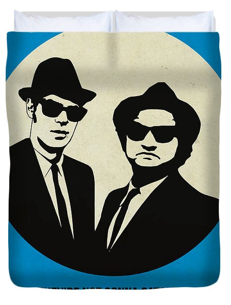Blues Brothers Poster Duvet Cover by Naxart Studio