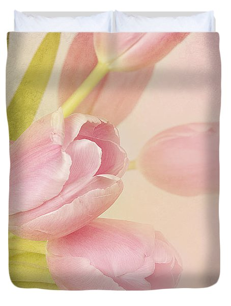 Blushing Beauties Duvet Cover by A New Focus Photography