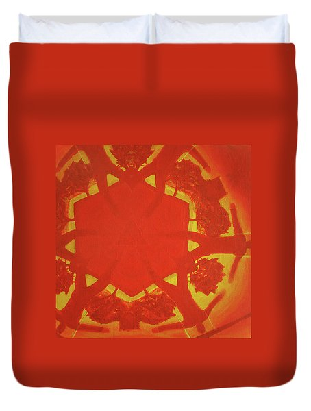 Boards Of Canada Geogaddi Album Cover Duvet Cover by David Rives