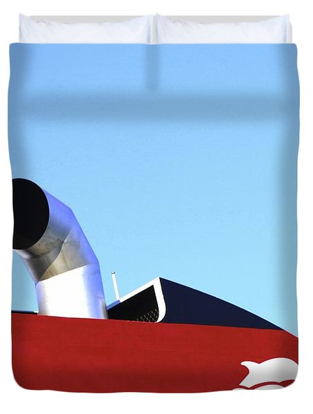Boat Chimneys Duvet Cover by Eleni Mac Synodinos