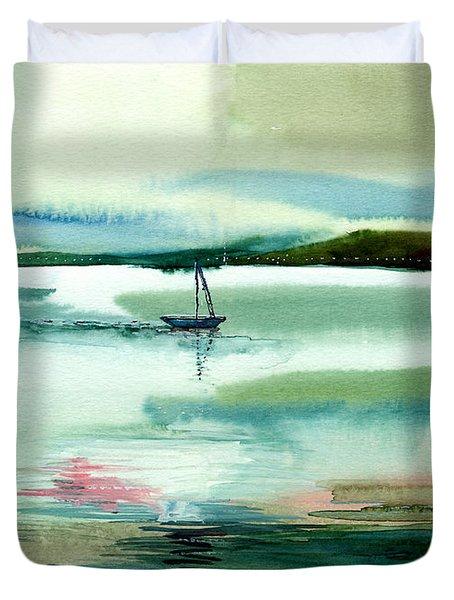 Boat N Creek Duvet Cover by Anil Nene