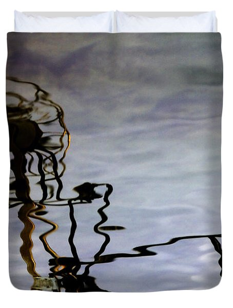Boat Reflections Duvet Cover by Stylianos Kleanthous