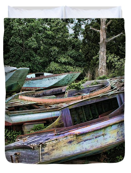 Boat Yard Duvet Cover by Heather Applegate