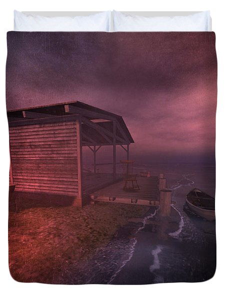 Boathouse Duvet Cover by Kylie Sabra