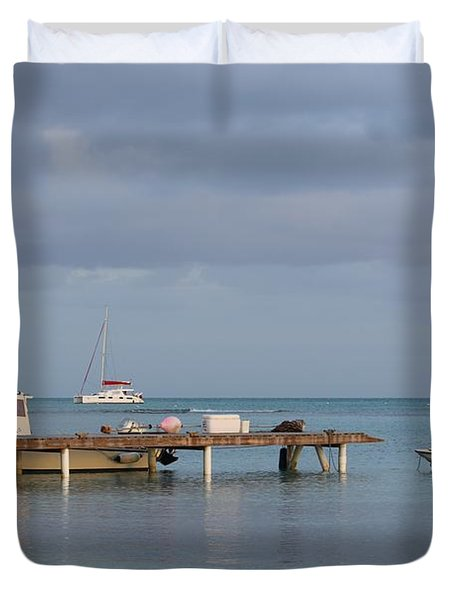 Boats At Rest Duvet Cover by Eric Glaser