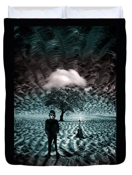 Bob Dylan A Hard Rain's A-gonna Fall Duvet Cover by Mal Bray