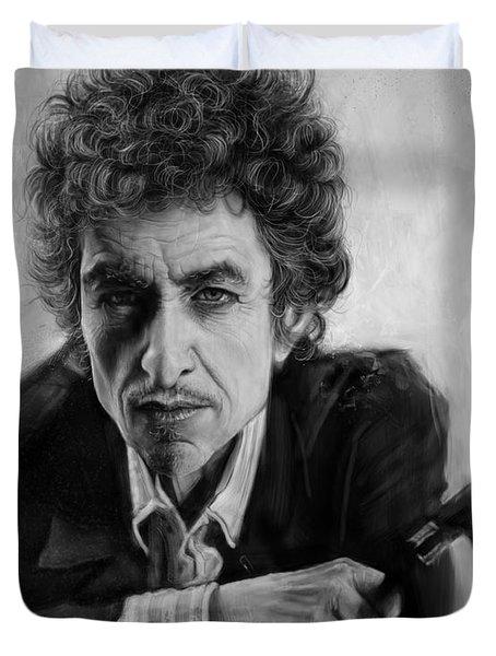 Bob Dylan Duvet Cover by Andre Koekemoer