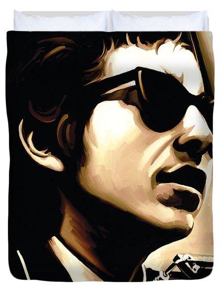 Bob Dylan Artwork 3 Duvet Cover by Sheraz A