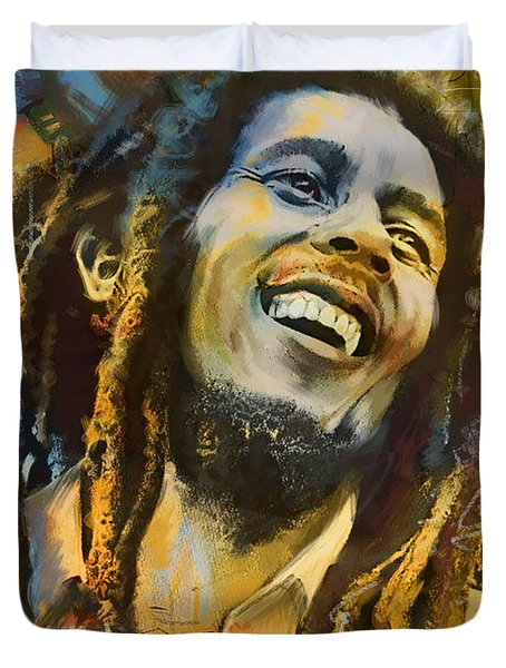 Bob Marley Duvet Cover by Corporate Art Task Force