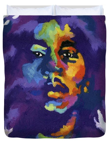 Bob Marley Duvet Cover by Stephen Anderson
