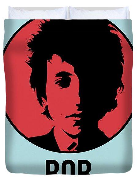 Bob Poster 2 Duvet Cover by Naxart Studio