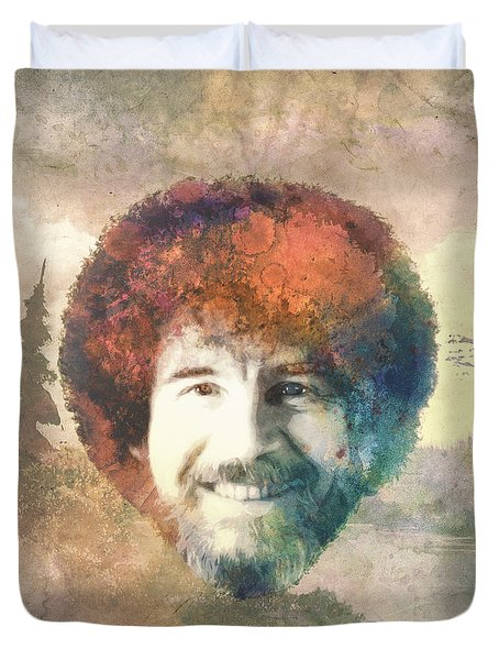 Bob Ross Duvet Cover by Filippo B