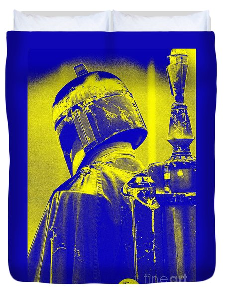 Boba Fett Costume 1 Duvet Cover by Micah May
