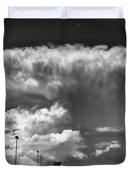 Boiling Sky Duvet Cover by Trever Miller