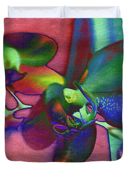 Bold Orchids Duvet Cover by Janice Rae Pariza