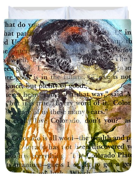 Boletus Edulis Close Up Duvet Cover by Beverley Harper Tinsley