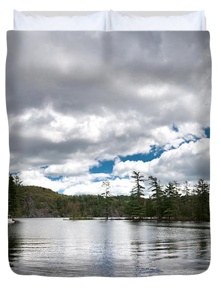 Bon Echo Lagoon Panorama Duvet Cover by Cale Best