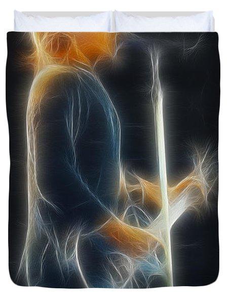 Bon Jovi-jon-ga12-fractal Duvet Cover by Gary Gingrich Galleries