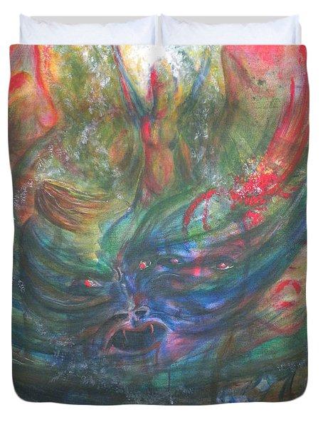 Bondage Broken Duvet Cover by Sheri Lauren Schmidt