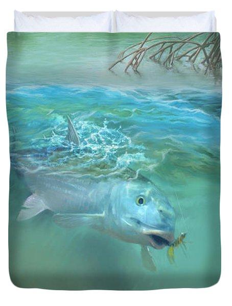 Bone Fish Duvet Cover by Rob Corsetti